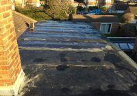 Flat roof before